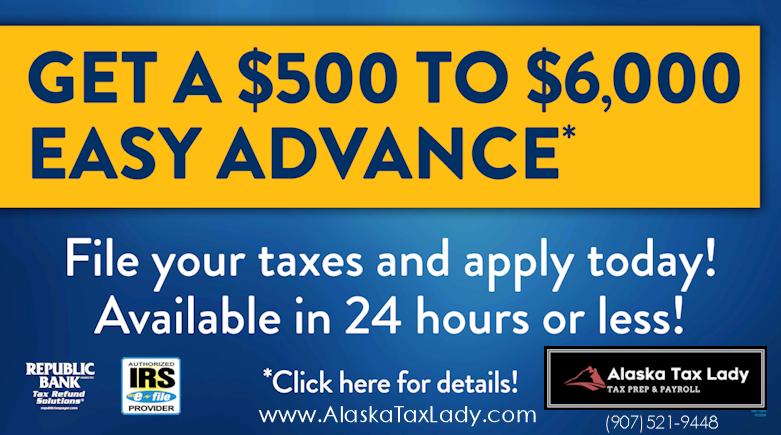 Alaska Tax Lady Refund Advance Loan